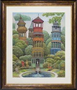 Garden under towers